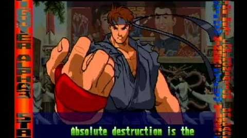 Street Fighter Alpha 3 Evil Ryu Full Storyline and Ending (improved quality)
