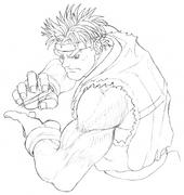 SSFII-Ryu intro concept-3
