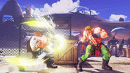Guile in Street Fighter V versus Alex