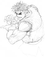 SSFII-Ryu intro concept-4