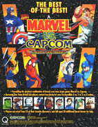 Marvel vs Capcom Clash of Super Heroes flyer