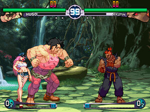 SFIII 2nd Impact Akuma vs Hugo Poison