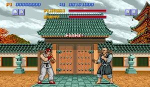 Street Fighter 1987 arcade screenshot