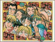 Sakura Ganbaru manga - color main page