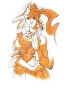 Rose-night-dress-artwork-Street Fighter Alpha Warriors' Dreams