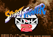 Street Fighter Alpha 2 Title