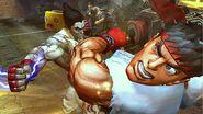 Kazuya tras golpear a Ryu