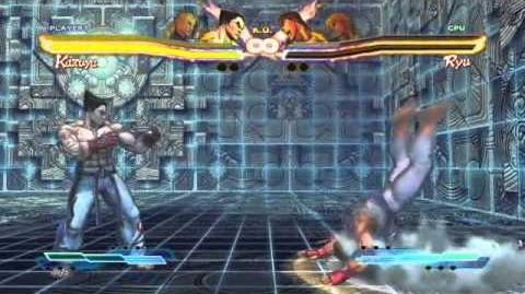 Kazuya's Super Art and Cross Assault in Street Fighter X Tekken