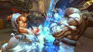 Kazuya defendiendose del ataque de Ryu