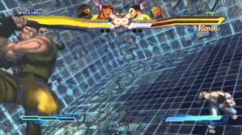 Rolento's Super Art and Cross Assault in Street Fighter X Tekken