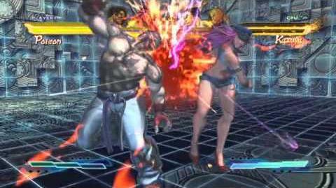 Poison's Super Art and Cross Assault in Street Fighter X Tekken