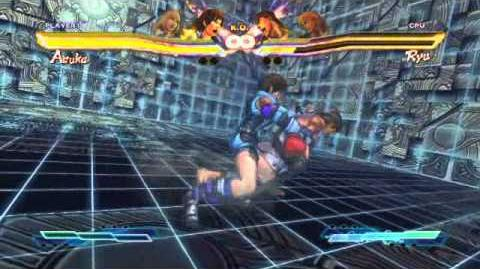 Asuka performing her Super Art and Cross Art in Street Fighter X Tekken