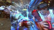 Ryu defendiendose del ataque de Kazuya
