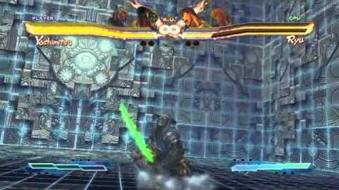 Yoshimitsu's Super Art and Cross Assault in Street Fighter X Tekken