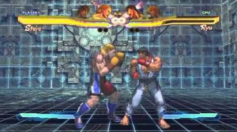 Steve's Super Art and Cross Assault in Street Fighter X Tekken