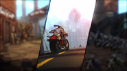 Axel Rides Motorcycle