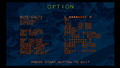 Str PSX option screen