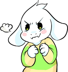 Asriel determined white background