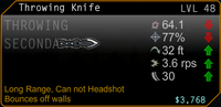 SFH2 Throwing Knife