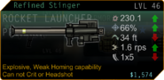SFH2 weapons Stinger refined