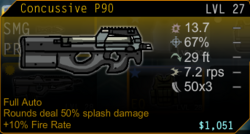 P90 Splash Damage