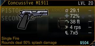 M1911 Splash Damage