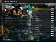Challenges missions