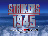 Strikers 1945 Title Screen (Console)