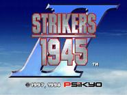 Strikers 1945 II Title Screen (Console)