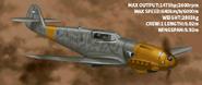 Bf-109 Specs