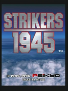 Strikers 1945 Title Screen (Arcade Mode)