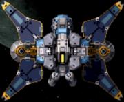 Cross blade satellite