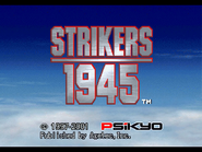 Strikers 1945 US Title Screen