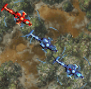 AH-64 (Red and Blue)