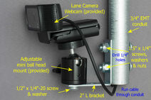 Strike Seeker Lane Camera Long Mount (annotated)