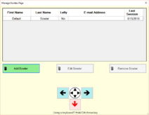 Manage Bowlers Page example