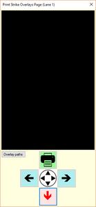 Print Strike Overlays Page example