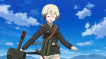 Erica Discarding MG42 Mid Combat Strike Witches Movie