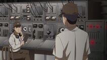 Hijikata and Radio Operator Radio set