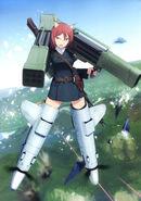 Adriana Battle Fliegerhammer, MG42 on her back and a Beretta M1934