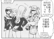 Fernandia, Luciana, and Martina give Kitano Furuko directions