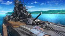 Yamato at port
