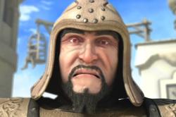 Khan face