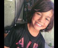 Lil Malachi smiling