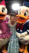Ariana with Daisy and Donald Duck