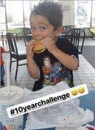 Baby Bechtel at McDonald's