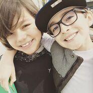 Malachi & Nicky smiling