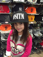 Ariana Greenblatt wearing SITM hat
