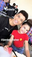 Ariana Greenblatt and Jordan Fisher