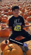 Malachi in a pumpkin patch